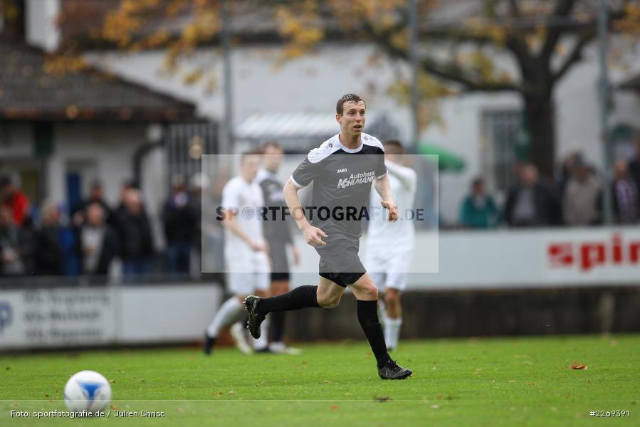 Sebastian Fries, 02.11.2019, Bayernliga Nord, TSV Karlburg, Würzburger FV - Bild-ID: 2269391