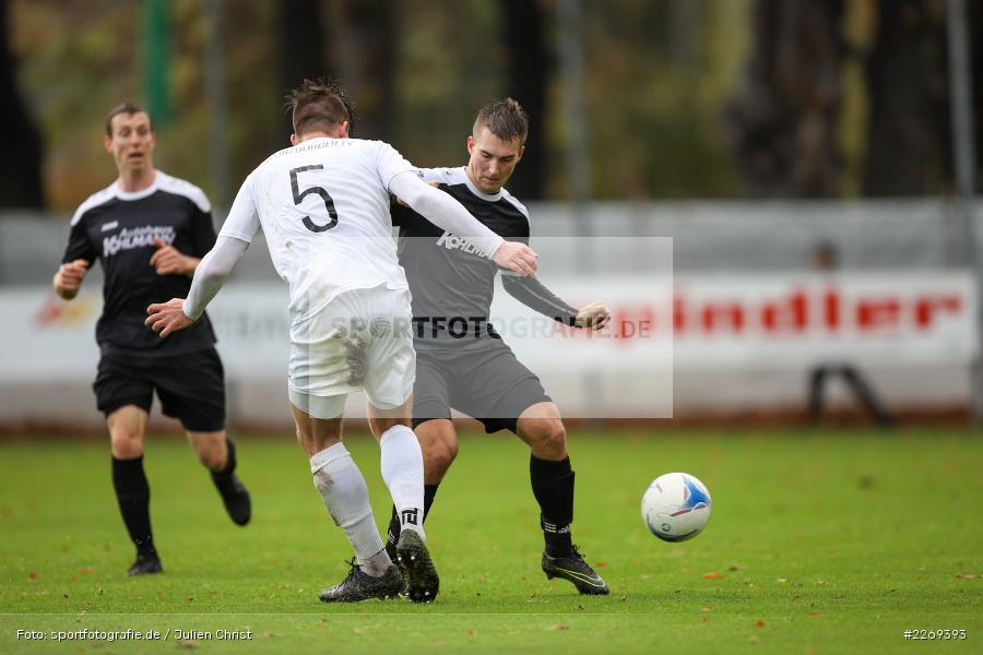 David Drösler, Andreas Rösch, 02.11.2019, Bayernliga Nord, TSV Karlburg, Würzburger FV - Bild-ID: 2269393