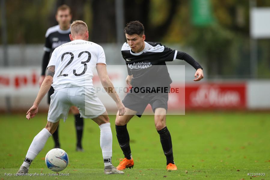 Kevin Röckert, Jan Wabnitz, 02.11.2019, Bayernliga Nord, TSV Karlburg, Würzburger FV - Bild-ID: 2269400