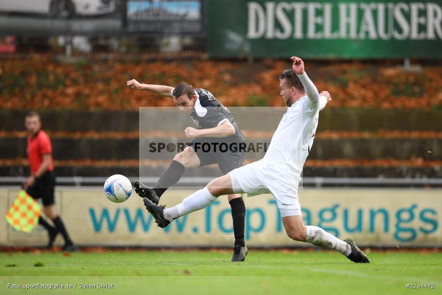 Sebastian Fries, David Drösler, 02.11.2019, Bayernliga Nord, TSV Karlburg, Würzburger FV - Bild-ID: 2269492