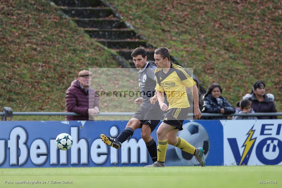 Yannick Wolf, Marco Schott, Kreisklasse Würzburg, 03.11.2019, BSC Aura, SG Eußenheim-Gambach - Bild-ID: 2269504