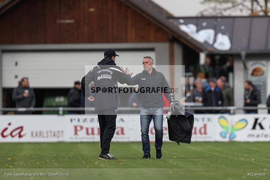 Gerd Klaus, Markus Köhler, 09.11.2019, Bayernliga Nord, SV Seligenporten, TSV Karlburg - Bild-ID: 2269650