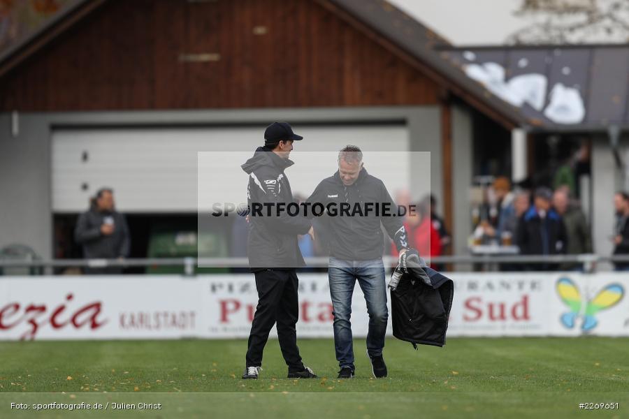 Gerd Klaus, Markus Köhler, 09.11.2019, Bayernliga Nord, SV Seligenporten, TSV Karlburg - Bild-ID: 2269651