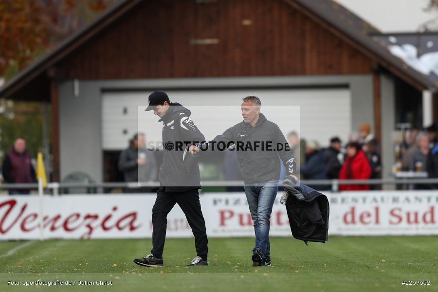 Gerd Klaus, Markus Köhler, 09.11.2019, Bayernliga Nord, SV Seligenporten, TSV Karlburg - Bild-ID: 2269652
