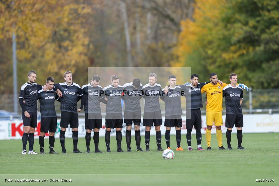 Gedenkminute Robert Enke, 09.11.2019, Bayernliga Nord, SV Seligenporten, TSV Karlburg - Bild-ID: 2269656
