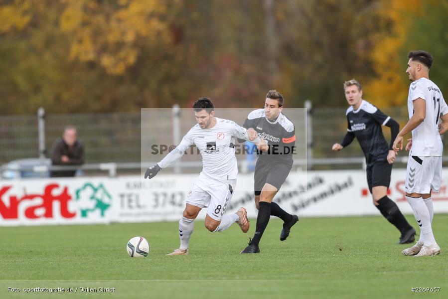 Manuel Römlein, Bernd Rosinger, 09.11.2019, Bayernliga Nord, SV Seligenporten, TSV Karlburg - Bild-ID: 2269657