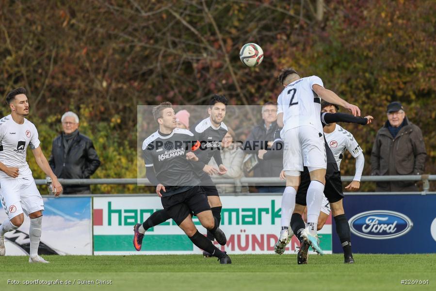 Steffen Bachmann, Manuel Römlein, Nico Moos, 09.11.2019, Bayernliga Nord, SV Seligenporten, TSV Karlburg - Bild-ID: 2269661