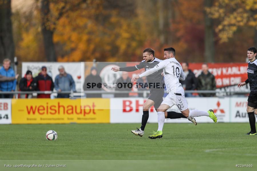 Mergim Bajrami, Marvin Schramm, 09.11.2019, Bayernliga Nord, SV Seligenporten, TSV Karlburg - Bild-ID: 2269663