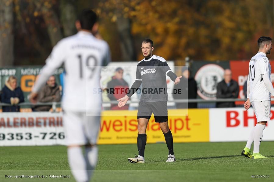 Marvin Schramm, 09.11.2019, Bayernliga Nord, SV Seligenporten, TSV Karlburg - Bild-ID: 2269667