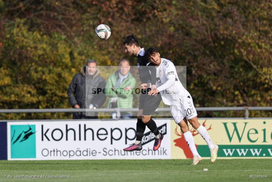 Steffen Bachmann, Matthew Loo, 09.11.2019, Bayernliga Nord, SV Seligenporten, TSV Karlburg - Bild-ID: 2269674