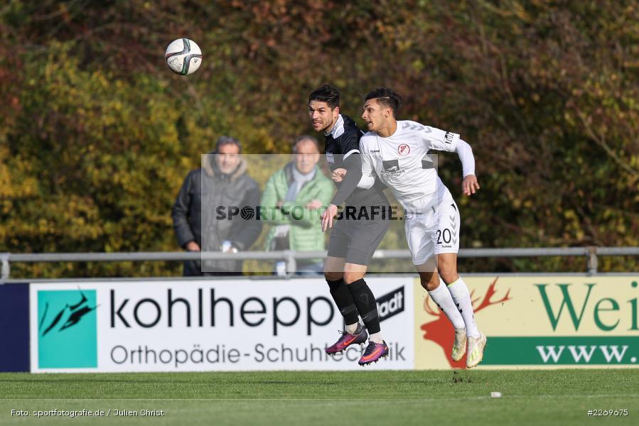 Steffen Bachmann, Matthew Loo, 09.11.2019, Bayernliga Nord, SV Seligenporten, TSV Karlburg - Bild-ID: 2269675