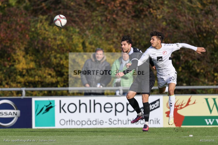 Steffen Bachmann, Matthew Loo, 09.11.2019, Bayernliga Nord, SV Seligenporten, TSV Karlburg - Bild-ID: 2269676