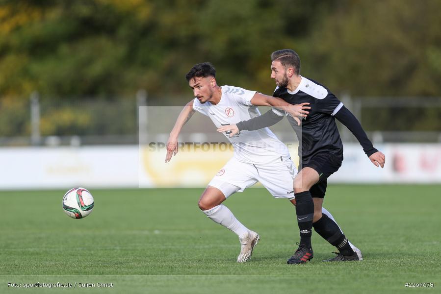 Sebastian Stumpf, Tim Olschewski, 09.11.2019, Bayernliga Nord, SV Seligenporten, TSV Karlburg - Bild-ID: 2269678