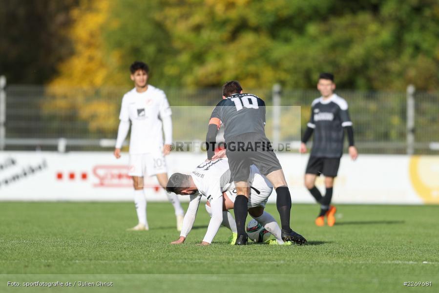 Mergim Bajrami, Manuel Römlein, 09.11.2019, Bayernliga Nord, SV Seligenporten, TSV Karlburg - Bild-ID: 2269681