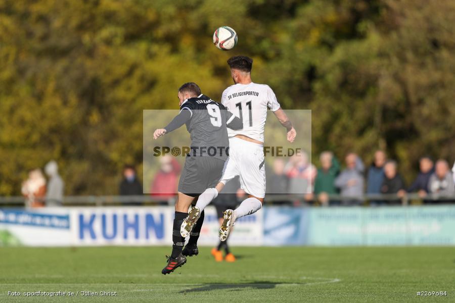 Tim Olschewski, Sebastian Stumpf, 09.11.2019, Bayernliga Nord, SV Seligenporten, TSV Karlburg - Bild-ID: 2269684