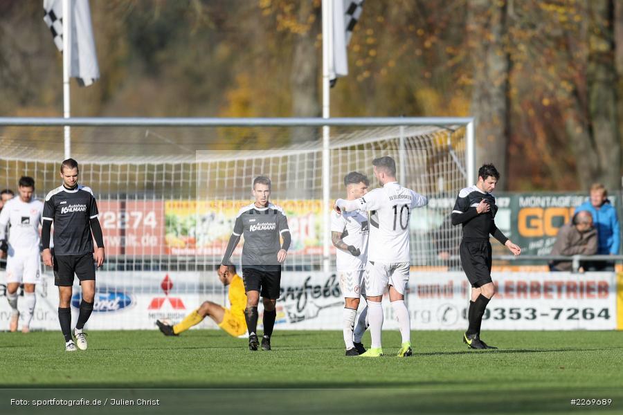 Mergim Bajrami, Marco Wiedmann, 09.11.2019, Bayernliga Nord, SV Seligenporten, TSV Karlburg - Bild-ID: 2269689