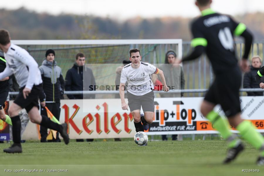 Philipp Kübert, 09.11.2019, Kreisliga Würzburg Gr. 2, TSV Karlburg II, FC Wiesenfeld-Halsbach - Bild-ID: 2269696