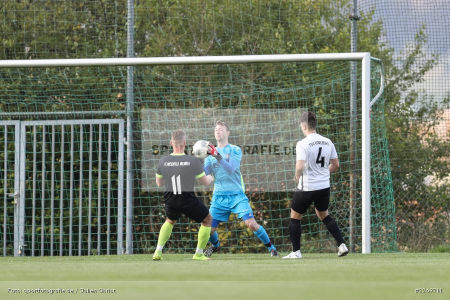 Jonas Kohlhepp, Szymon Dynia, 09.11.2019, Kreisliga Würzburg Gr. 2, TSV Karlburg II, FC Wiesenfeld-Halsbach - Bild-ID: 2269714
