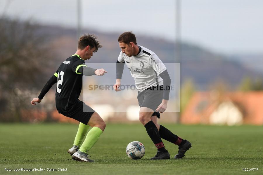 Benedikt Langhirt, Sebastian Reusch, 09.11.2019, Kreisliga Würzburg Gr. 2, TSV Karlburg II, FC Wiesenfeld-Halsbach - Bild-ID: 2269719