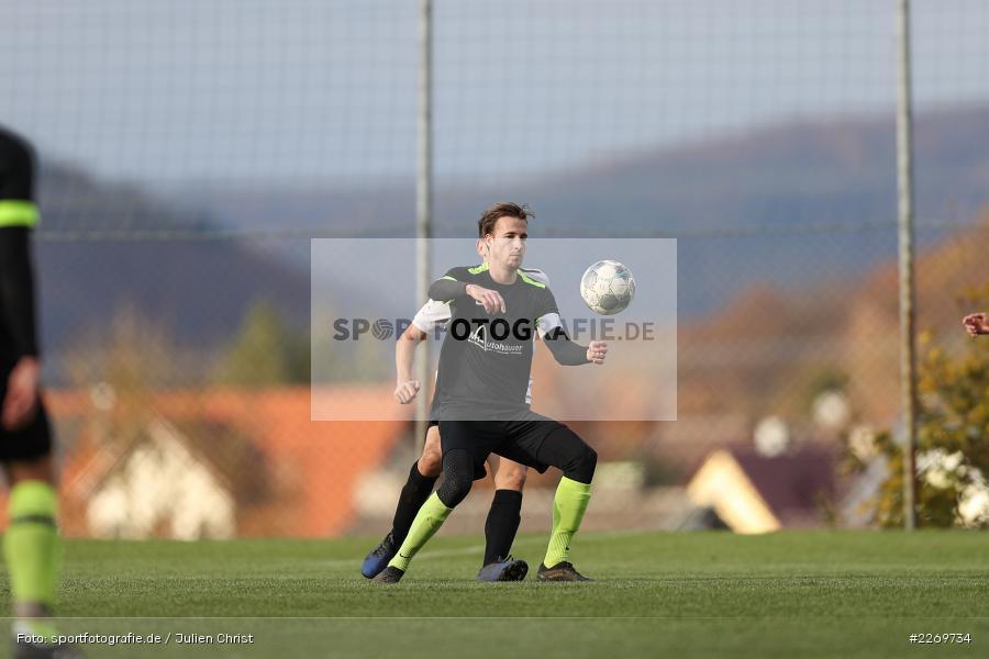 Philipp Kübert, Marco Mehling, 09.11.2019, Kreisliga Würzburg Gr. 2, TSV Karlburg II, FC Wiesenfeld-Halsbach - Bild-ID: 2269734