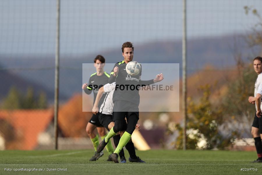 Philipp Kübert, Marco Mehling, 09.11.2019, Kreisliga Würzburg Gr. 2, TSV Karlburg II, FC Wiesenfeld-Halsbach - Bild-ID: 2269736