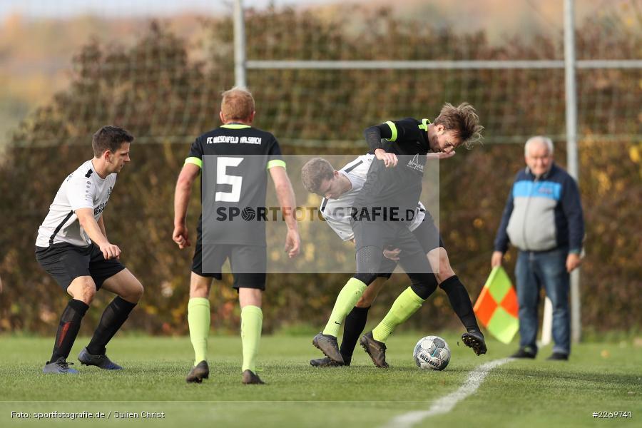 Luis Kohlmann, Marco Mehling, 09.11.2019, Kreisliga Würzburg Gr. 2, TSV Karlburg II, FC Wiesenfeld-Halsbach - Bild-ID: 2269741