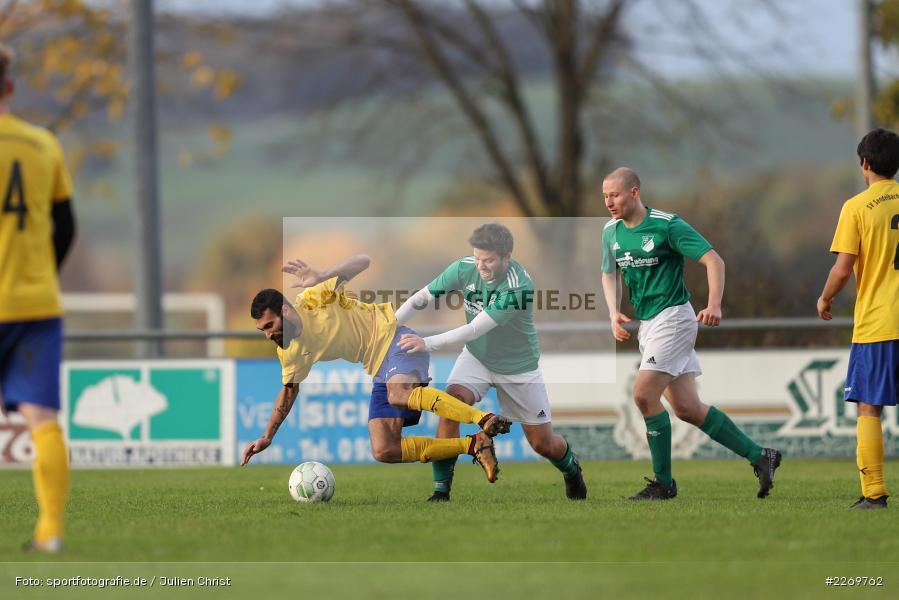 Philipp Göbel, Tayfun Göbek, Kreisklasse Würzburg Gr. 3, 09.11.2019, SV Sendelbach-Steinbach, FC Gössenheim - Bild-ID: 2269762