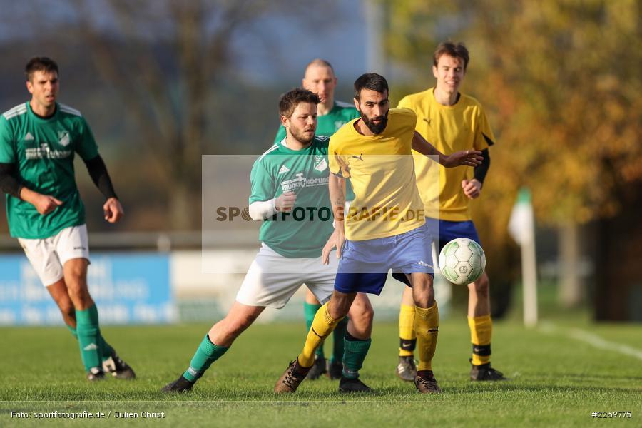 Tayfun Göbek, Philipp Göbel, Kreisklasse Würzburg Gr. 3, 09.11.2019, SV Sendelbach-Steinbach, FC Gössenheim - Bild-ID: 2269775
