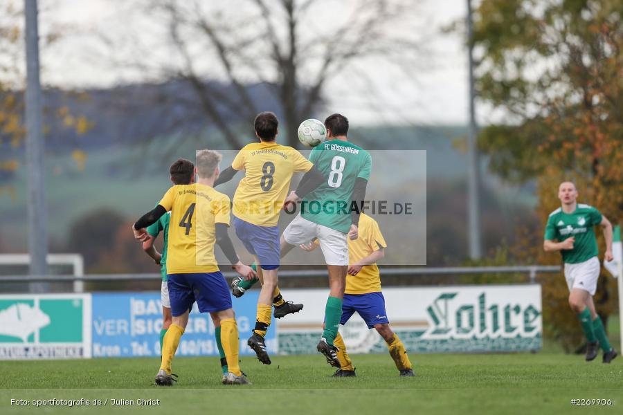Benedikt Schlereth, Alexander Nadler, Kreisklasse Würzburg Gr. 3, 09.11.2019, SV Sendelbach-Steinbach, FC Gössenheim - Bild-ID: 2269906