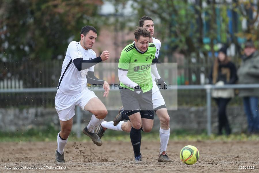 Leonard Gopp, Simon Wichmann, Bastian Hain, 10.11.2019, A-Klasse Würzburg Gr. 6, DJK Reuchelheim/SV Heumgrumbach, TSV Karlburg III - Bild-ID: 2269923