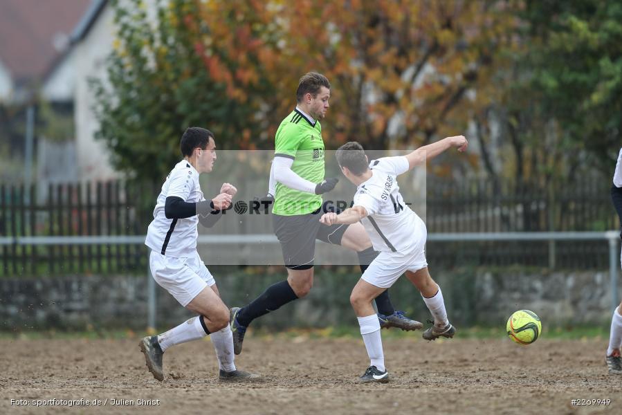 Fabian Findt, Leonard Gopp, Bastian Hain, 10.11.2019, A-Klasse Würzburg Gr. 6, DJK Reuchelheim/SV Heumgrumbach, TSV Karlburg III - Bild-ID: 2269949