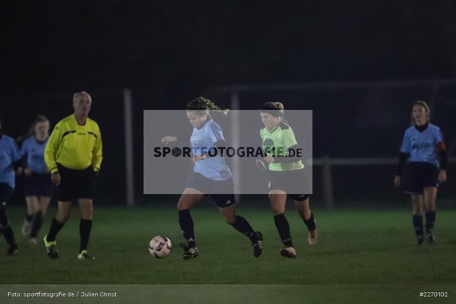 Leonie Lörzel, Sophia Breitenbach, 16.11.2019, Bezirksoberliga Frauen, VfR Stadt Bischofsheim, SpVgg Adelsberg - Bild-ID: 2270102