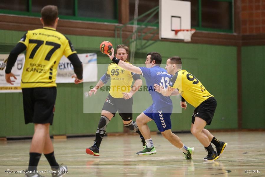 Julian Kram, Felix Fuchs, Erwin-Ammann-Halle, Bezirksliga Staffel Nord, 16.11.2019, TV Königsberg, TSV Karlstadt - Bild-ID: 2270116