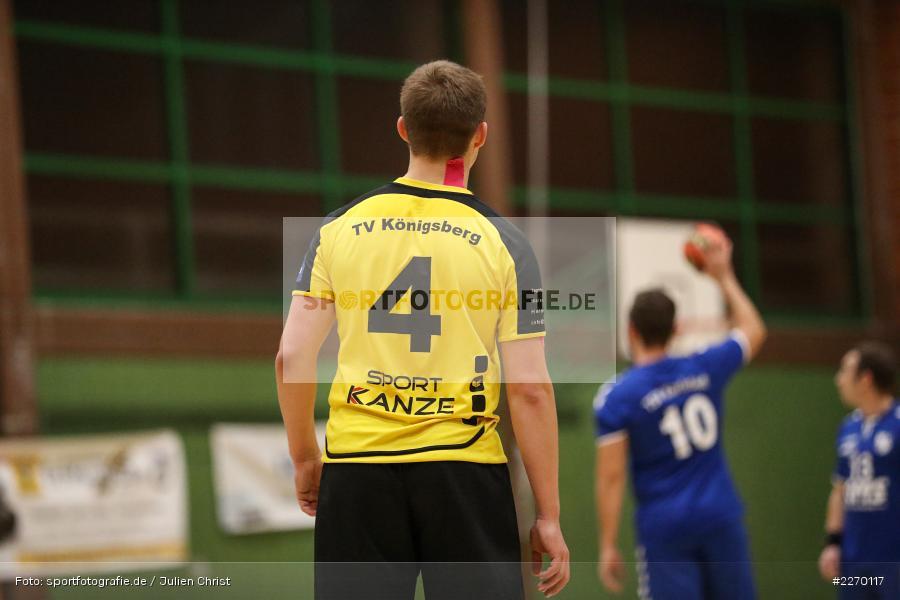 Kevin Rieger, Erwin-Ammann-Halle, Bezirksliga Staffel Nord, 16.11.2019, TV Königsberg, TSV Karlstadt - Bild-ID: 2270117