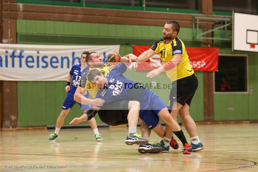 Florian Schmidt, Sebastian Heun, Erwin-Ammann-Halle, Bezirksliga Staffel Nord, 16.11.2019, TV Königsberg, TSV Karlstadt - Bild-ID: 2270143