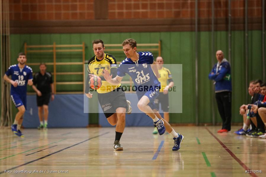 Rene Böhm, Daniel Mader, Erwin-Ammann-Halle, Bezirksliga Staffel Nord, 16.11.2019, TV Königsberg, TSV Karlstadt - Bild-ID: 2270158