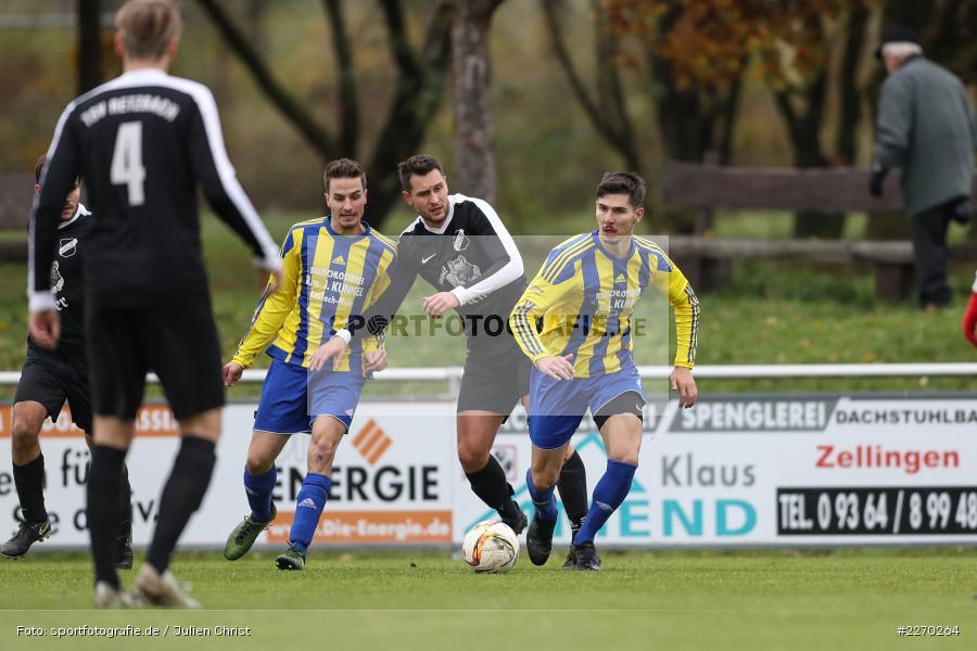Onur Yazbahar, Benedikt Strohmenger, Daniel Jung, 17.11.2019, Bezirksliga Ufr. West, DJK Hain, TSV Retzbach - Bild-ID: 2270264