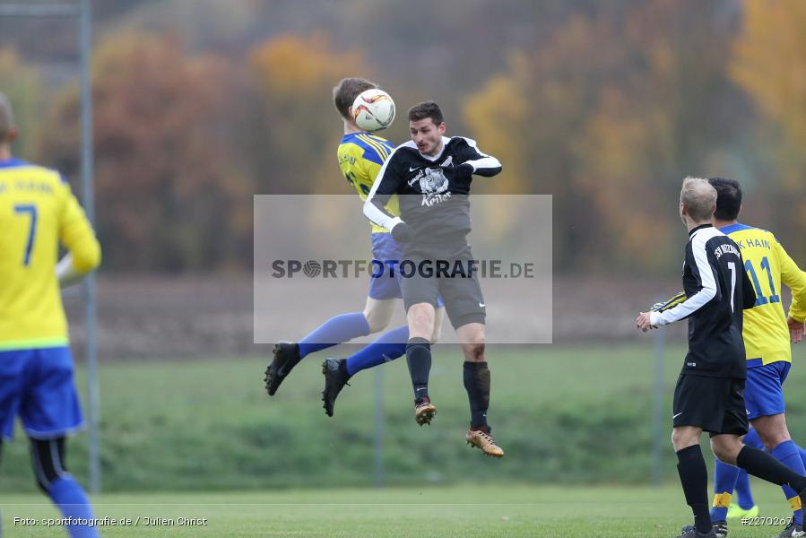 Dominic Heßdörfer, Max Hofestädt, 17.11.2019, Bezirksliga Ufr. West, DJK Hain, TSV Retzbach - Bild-ID: 2270267
