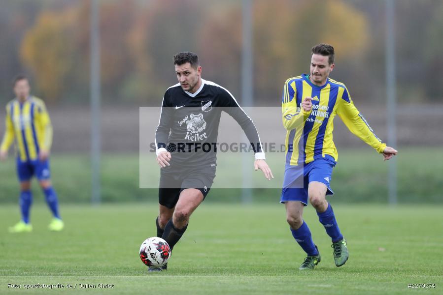 Daniel Jung, Benedikt Strohmenger, 17.11.2019, Bezirksliga Ufr. West, DJK Hain, TSV Retzbach - Bild-ID: 2270274