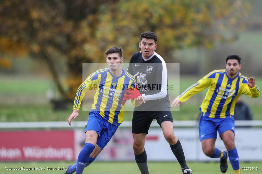 Nicolai Zull, Onur Yazbahar, 17.11.2019, Bezirksliga Ufr. West, DJK Hain, TSV Retzbach - Bild-ID: 2270318