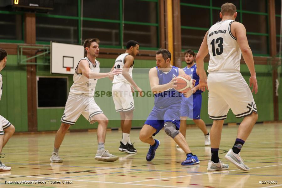 Lukas Hilpert, Andre Maier, 23.11.2019, Basketball Bezirksoberliga, SV Oberdürrbach, TSV Karlstadt - Bild-ID: 2270653