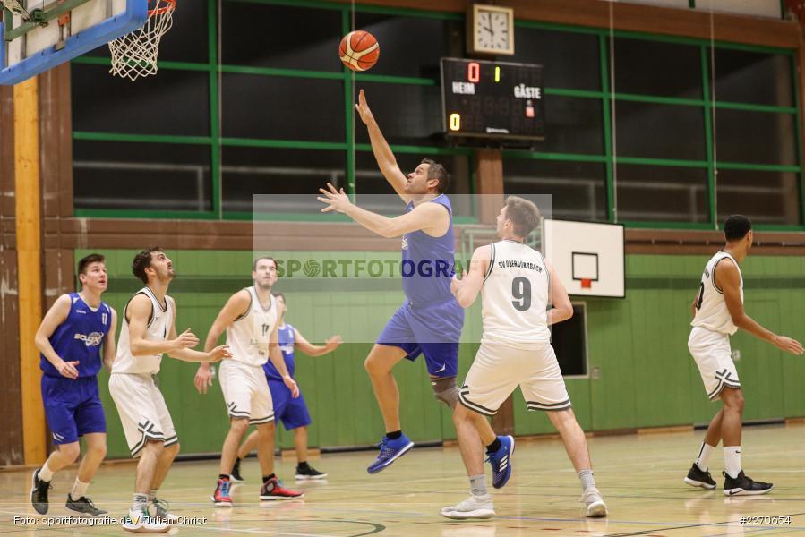 Lukas Hilpert, Andre Maier, 23.11.2019, Basketball Bezirksoberliga, SV Oberdürrbach, TSV Karlstadt - Bild-ID: 2270654