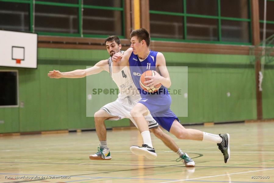 Michael Sauer, Maurizio Menini, 23.11.2019, Basketball Bezirksoberliga, SV Oberdürrbach, TSV Karlstadt - Bild-ID: 2270660