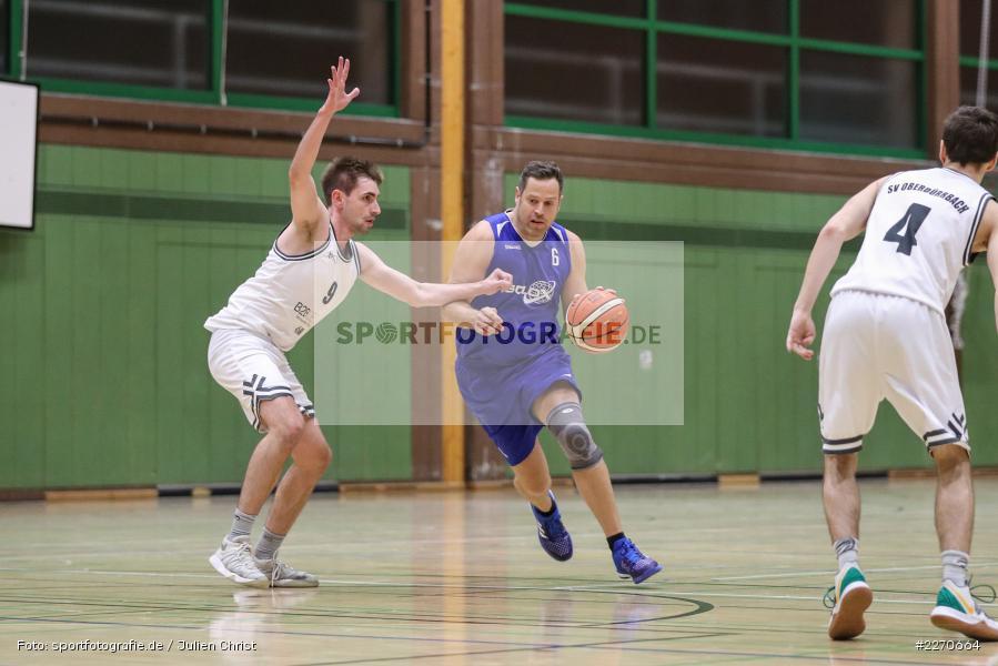 Lukas Hilpert, Andre Maier, 23.11.2019, Basketball Bezirksoberliga, SV Oberdürrbach, TSV Karlstadt - Bild-ID: 2270664