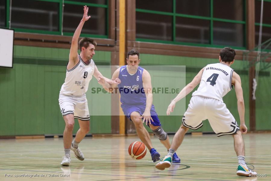 Andre Maier, Lukas Hilpert, Maurizio Menini, 23.11.2019, Basketball Bezirksoberliga, SV Oberdürrbach, TSV Karlstadt - Bild-ID: 2270665