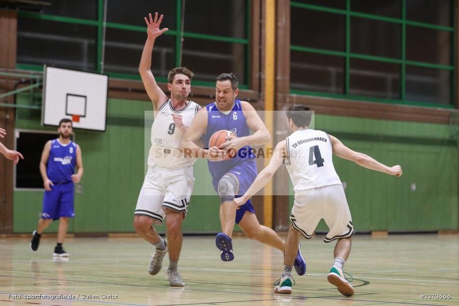 Andre Maier, Lukas Hilpert, Maurizio Menini, 23.11.2019, Basketball Bezirksoberliga, SV Oberdürrbach, TSV Karlstadt - Bild-ID: 2270666