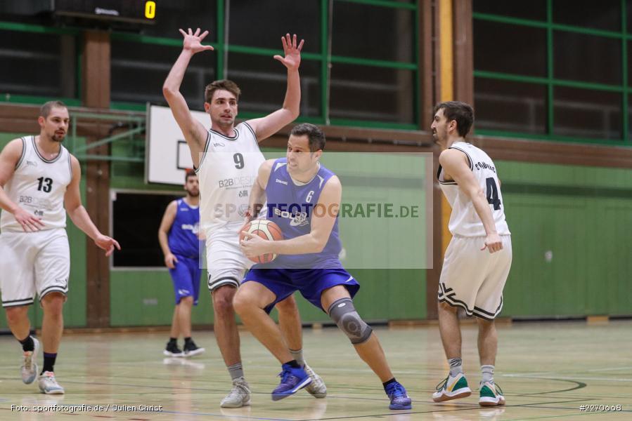 Lukas Hilpert, Maurizio Menini, Andre Maier, 23.11.2019, Basketball Bezirksoberliga, SV Oberdürrbach, TSV Karlstadt - Bild-ID: 2270668