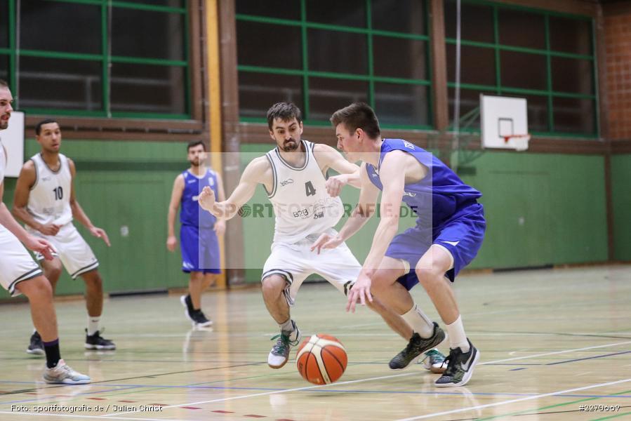 Michael Sauer, Maurizio Menini, 23.11.2019, Basketball Bezirksoberliga, SV Oberdürrbach, TSV Karlstadt - Bild-ID: 2270669