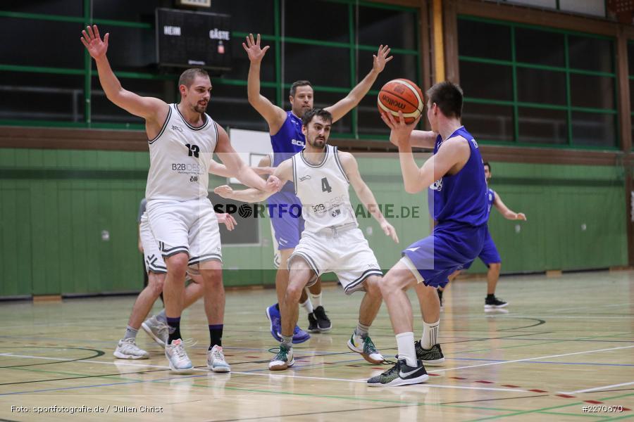 Maurizio Menini, Sebastian Hilpert, Michael Sauer, 23.11.2019, Basketball Bezirksoberliga, SV Oberdürrbach, TSV Karlstadt - Bild-ID: 2270670