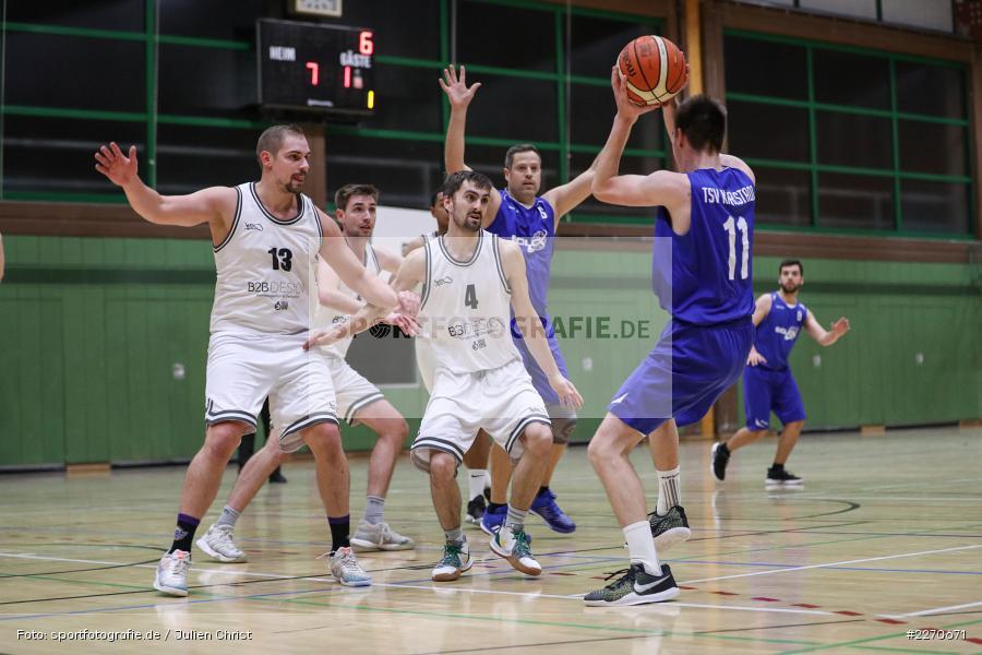 Maurizio Menini, Sebastian Hilpert, Michael Sauer, 23.11.2019, Basketball Bezirksoberliga, SV Oberdürrbach, TSV Karlstadt - Bild-ID: 2270671
